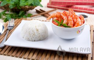 C17 Singapore Chilli Prawns with Rice