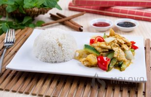 C19 Satay Chicken with Rice